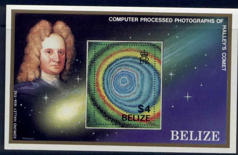 Belize 814 S/S MNH Space, Halley's Comet