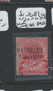 MALAYA SUNGEI UJONG  (P0510B) QV 2C SG 43 RED CANCEL  VFU