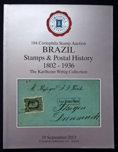 Auction catalogue BRAZIL STAMPS & POSTAL HISTORY 1802-1936 Karlheinz Wittig
