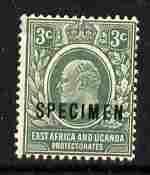 Kenya, Uganda & Tanganyika 1907-08 KE7 3c MCA overprinted...