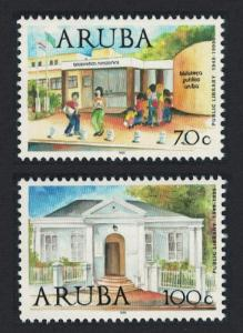 Aruba 50th Anniversary of Public Library Service 2v SG#247-248
