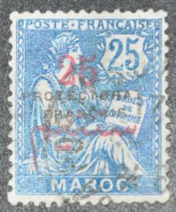 DYNAMITE Stamps: French Morocco Scott #45 – USED