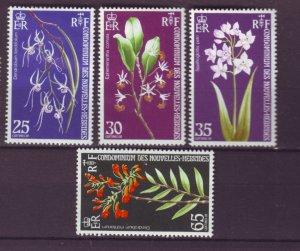 J22110 Jlstamps 1973 new hebrides set mh #190-3 flowers