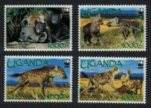 Uganda WWF Spotted Hyaena 4v 2008 MNH SC#1892a-d SG#2551-2554 MI#2663-2666