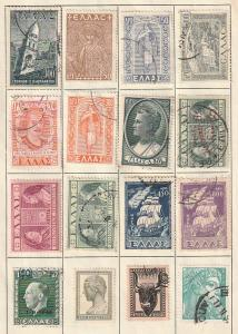 Greece Used lot of 56 stamps
