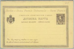 77597 - SERBIA - POSTAL HISTORY - double STATIONERY  CARD Michel # P24 II