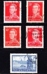 Argentina Scott 628-632   F to VF used.