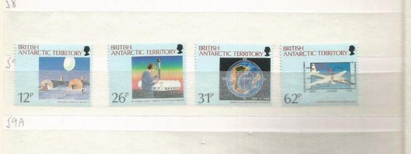 BRITISH ANTARCTIC TERRITORY SCOTT 176-9 MH SCV $11