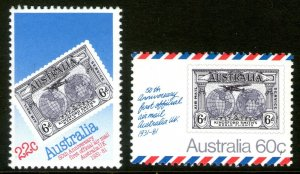 AUSTRALIA 50th Anniv First Official Airmail - Australia to UK (1981) MNH
