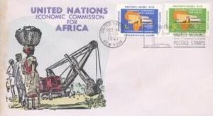 UN #95/96 ECONOMIC AFRICA - Overseas Mailer