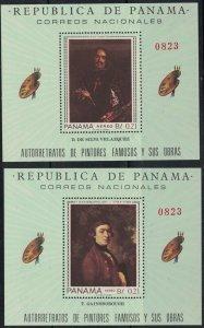 Panama Famous Artists-Gainsborough-Diuier-Rembrant-etc.MNH Souv.Shts.