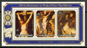 COOK ISLANDS 1977 EASTER Souvenir Sheet Peter Paul Rubens ART Sc 473a MNH