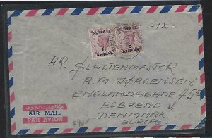 KUWAIT   (PP2408B)   ON GB 6A/6D X2 A/M COVER TO DENMARK