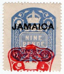 (I.B) Jamaica Revenue : Duty Stamp 9d (die B)