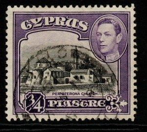 CYPRUS SG153 1938 3/4pi BLACK & VIOLET FINE USED