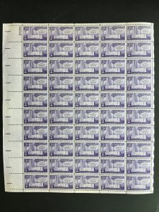 1956 sheet, Fifth International Philatelic Exhibition FIPEX, Sc# 1076