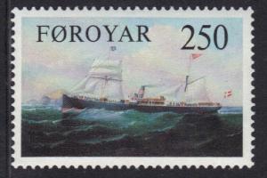 Faroe Islands 1983 MNH old cargo liners  250 ore     #