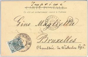 51023    Austrian Levant  TURKEY  -  POSTAL HISTORY:  POSTCARD to BRUXELLES 1902