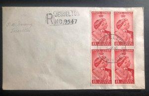 1948 Jesselton North Borneo Cover Royal silver wedding King George VI