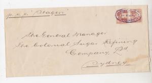 NETHERLANDS INDIES, c1925 cover, 17 1/2c. (2). S.S. STAGEN, MAATSCHIPPIJ to NSW