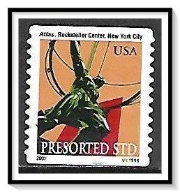 US #3770 Atlas Statue PNC Used
