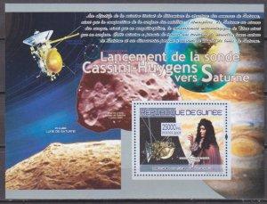 2007 Guinea 5321/B1485 Flight of the probe to Saturn / Domenico Cassini 7,00 €