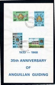 Anguilla 1968 Sc 40-3 Commemorative Perforate FDC Folder