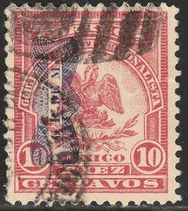 MEXICO 570, 10¢ DENVER WITH CORBATA OVERPRINT. USED. VF. (1340)