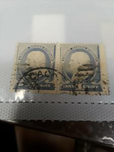 [SOLD] USA 1c Franklin Used Pair