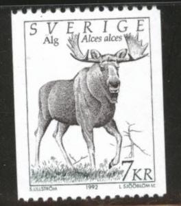 SWEDEN Scott 1934 MNH** 1992 Moose coil