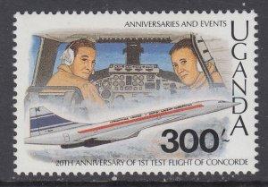 Uganda 734 Airplane MNH VF