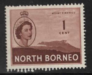 North Borneo Scott 261 MH* QE2 1954 MH*  stamp expect similar centering