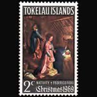 TOKELAU 1969 - Scott# 20 Christmas Set of 1 NH
