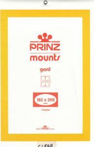 PRINZ CLEAR MOUNTS 182X209 (5) RETAIL PRICE $10.50