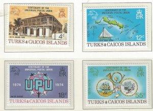 Turks & Caicos 293-6  MNH  UPU Centenary