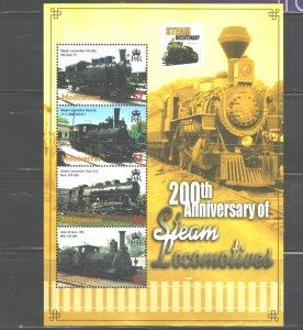 MONTSERRAT  2004  TRAINS MS.#1107  MNH