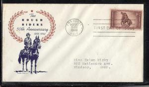US #973-35 Rough Riders Hamilton cachet addressed