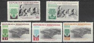 Dominican Republic  522-4, C113-4  MNH  World Refugee Year