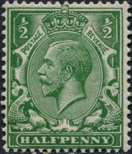 SG354 SPEC N14(-), ½d DEEP yellow-green, NH MINT. Cat UNLISTED.