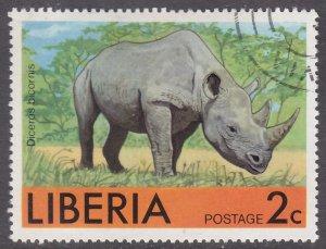 Liberia 763 Rhinoceros 1976