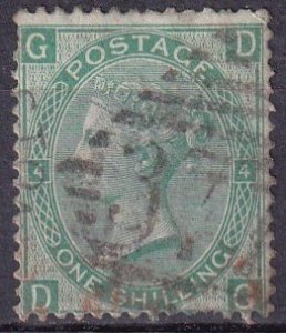 Great Britain #54 Plate 4 F-VF Used CV $40.00 (Z3421)