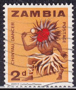Zambia 6 USED 1964 Chinyau Dancer