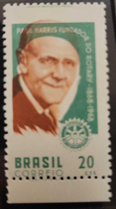 O) 1968 BRAZIL, ERROR, PAUL PERCY HARRIS, FOUNDER OF ROTARY INTERNATIONAL, SC...