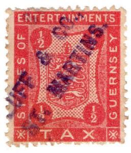 (I.B) Guernsey Revenue : Entertainments Tax ½d