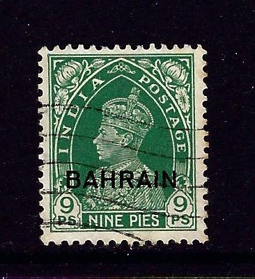 Bahrain 22 Used 1938 overprint issue