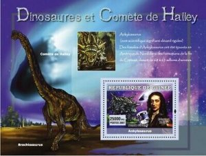 Guinea MNH S/S  Edward Halley's Comet & Dinosaurs 2007