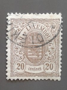 Luxembourg 45 F-VF used with small fault. Scott $ 20.00