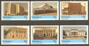ZIMBABWE Sc# 606 - 611 MNH FVF Set-6 Buildings Architecture