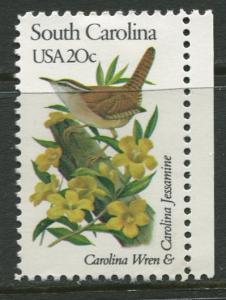 USA - Scott 1992 - State Birds & Flowers - 1982 - MNG - Single 20c Stamp