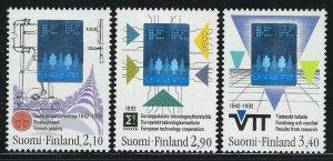 Finland 1992 Technology Holograms set Sc# 886-88 NH